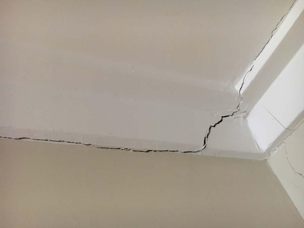 Wall cracks, significant crack
