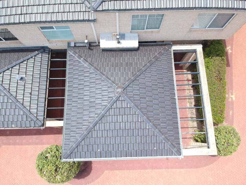 BCI Drone photo, roof inspection